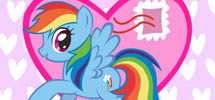 Use MyLittlePony.com's Valentine's Day Card Creator to make simple comics and fan art