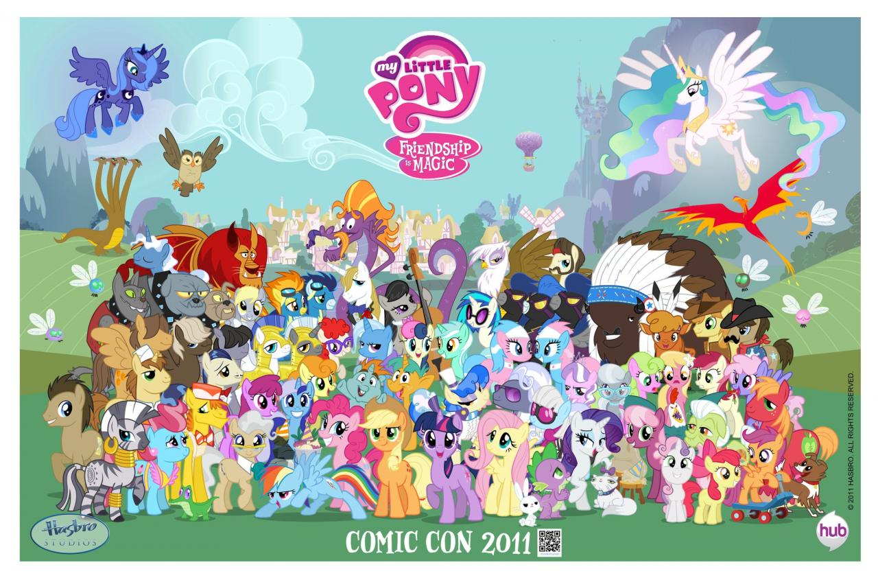 My Little Pony Facebook page unveils a San Diego Comic Con exclusive Friendship is Magic poster