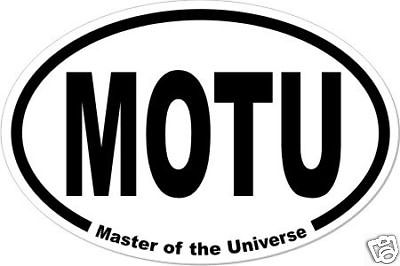 For the He-Man or She-Ra fan, Masters of the Universe MOTU Oval Bumper Sticker