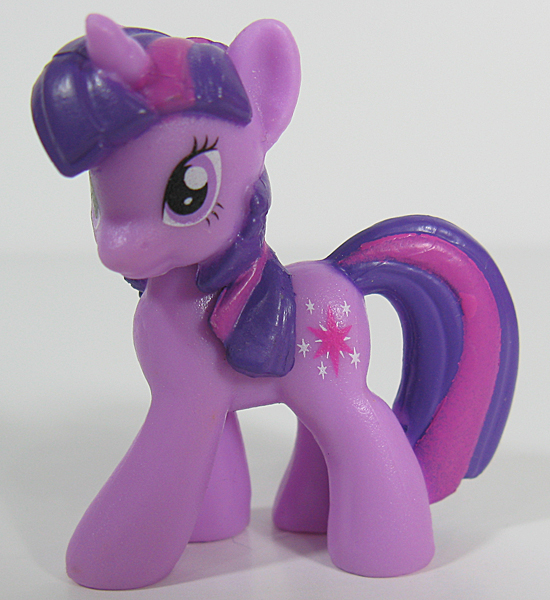 This smaller Blind Bag version of Twilight Sparkle is more appealing to bronies: She looks more like the cartoon character, and you don