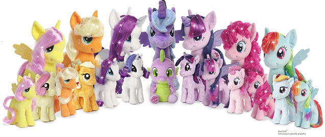 AURORA® EXPANDS MY LITTLE PONY®™ PLUSH COLLECTION TO INCLUDE BRUSHABLE SPARKLING HAIR!