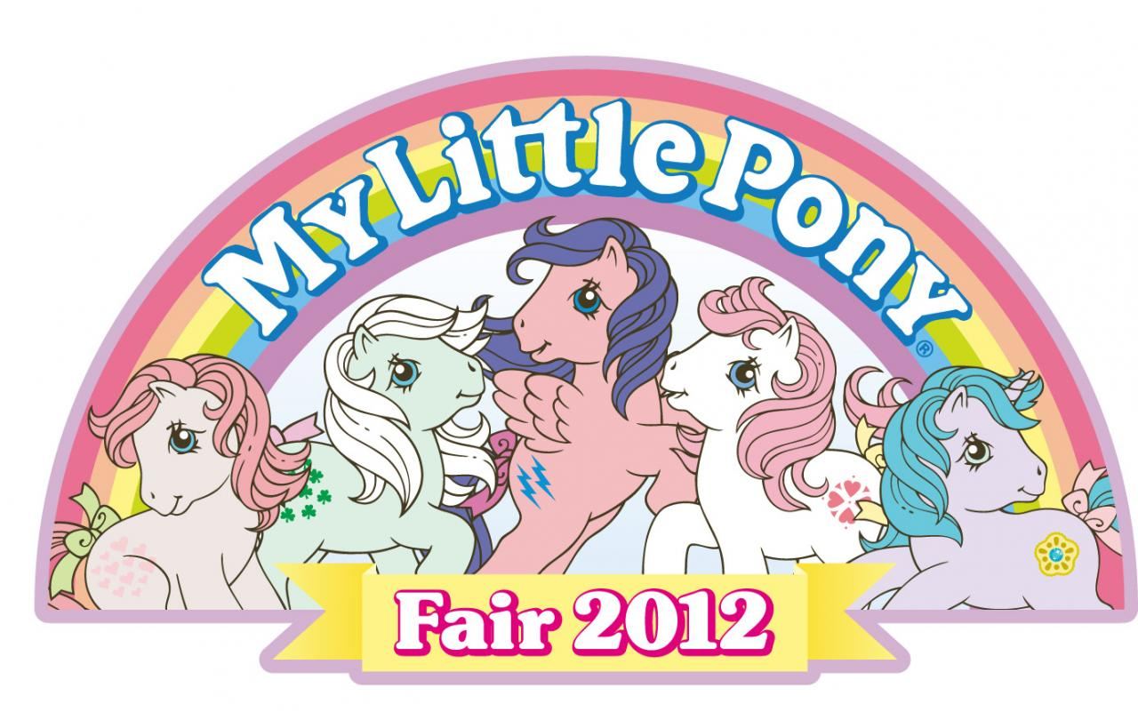 The logo for the 2012 My Little Pony Fair recalls vintage