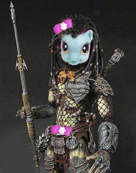 """The new My Little Pony toys look like the alien from Predator."""