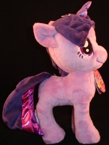 10 inch plush Twilight Sparkle from Aurora (side view)