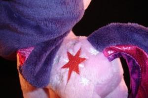10 inch plush Twilight Sparkle from Aurora stitched cutie mark