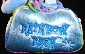 Fancy Pals carrier with 6.5 inch Rainbow Dash close-up