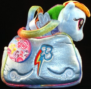 Fancy Pals carrier with 6.5 inch Rainbow Dash cutie mark side