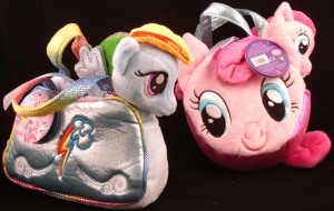Fancy Pals carrier with 6.5 inch plush Rainbow Dash and Pony Tail Carrier with 6.5 inch plush Pinkie Pie