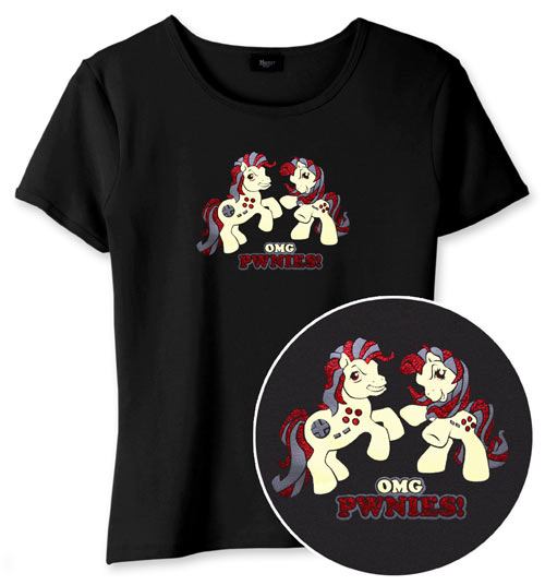 OMG Pwnies shirts from Think Geek