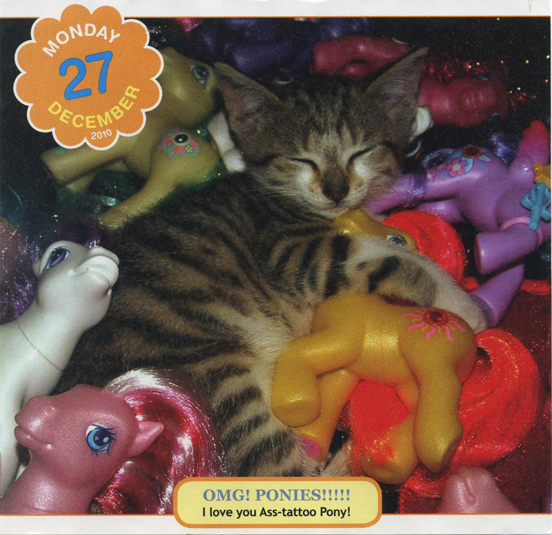 Behind the scenes of the My Little Pony Cute Overload calendar picture