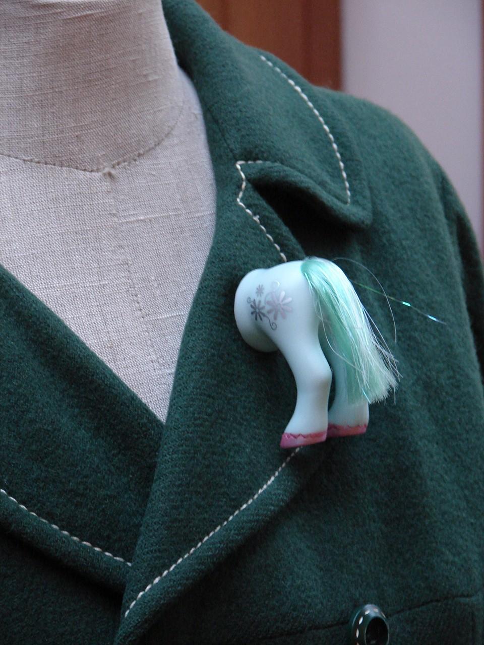 My Little Pony Butt Brooch