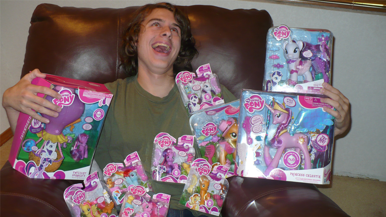 Hasbro sends tons of merchandise to the famous My Little Pony loving physics student