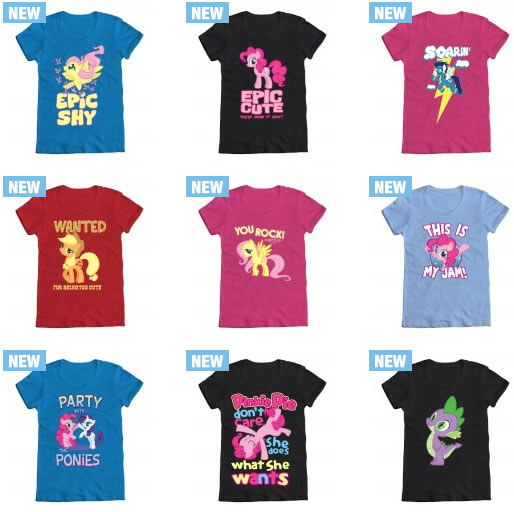 New My Little Pony Friendship is Magic t-shirt designs at WeLoveFine.com