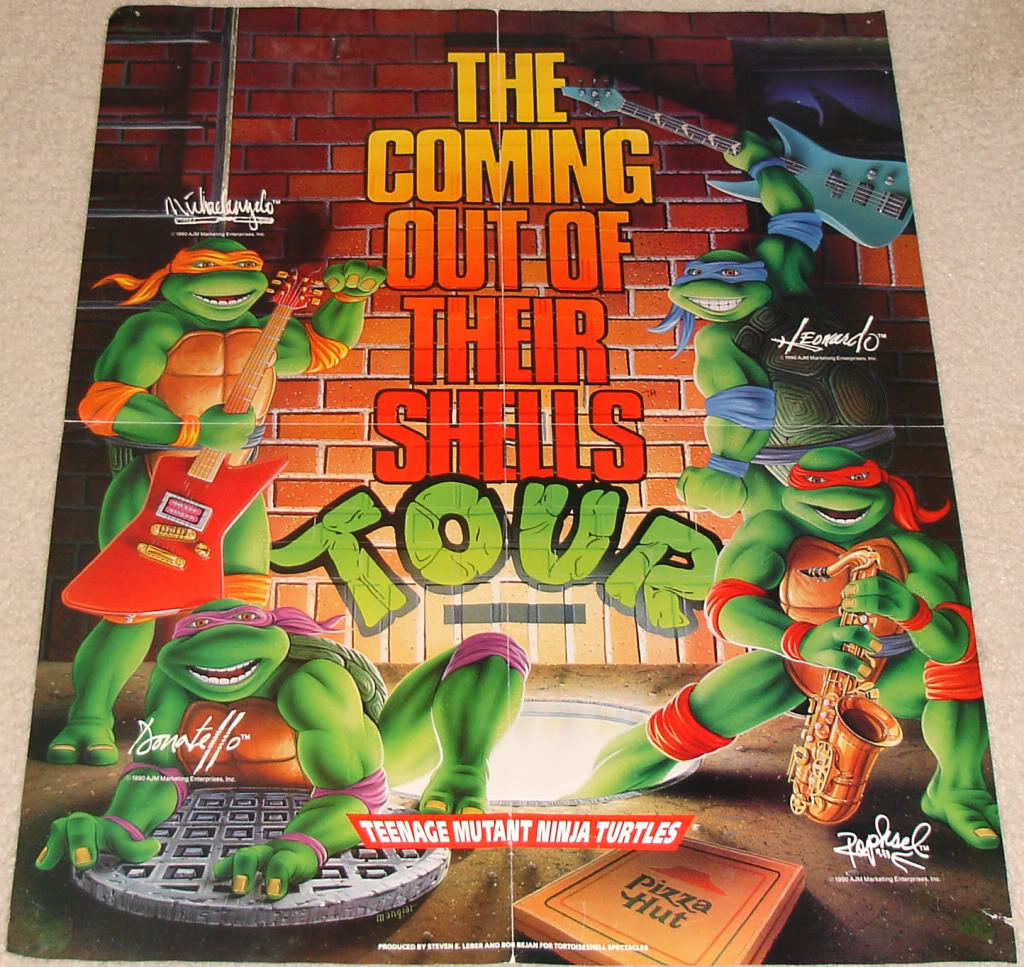 Do you remember the Teenage Mutant Ninja Turtles Coming Out of Their Shells Rock Tour?