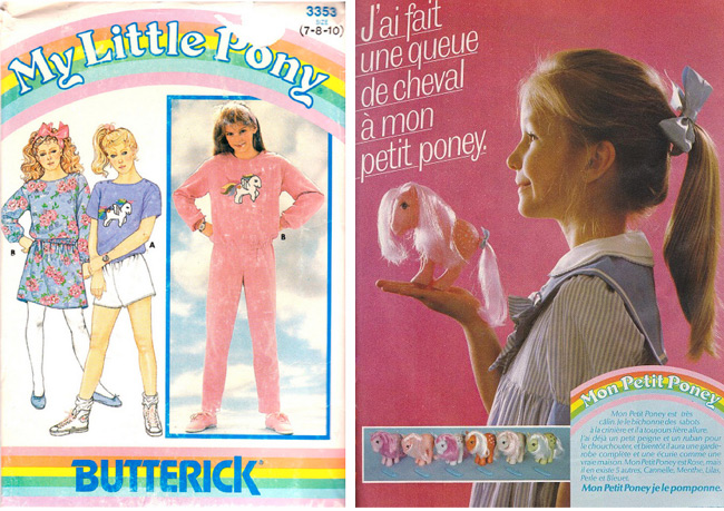 This 1985 Butterick pattern with My Little Pony transfer was posted on Patternpalooza