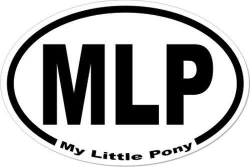 My Little Pony Mlp Oval Euro Style Decal Car Bumper Sticker Laptop