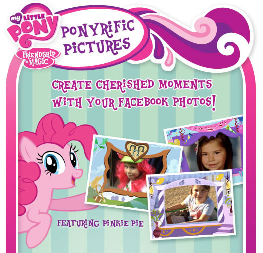 Add My Little Pony themed frames and sound effects to your Facebook photos