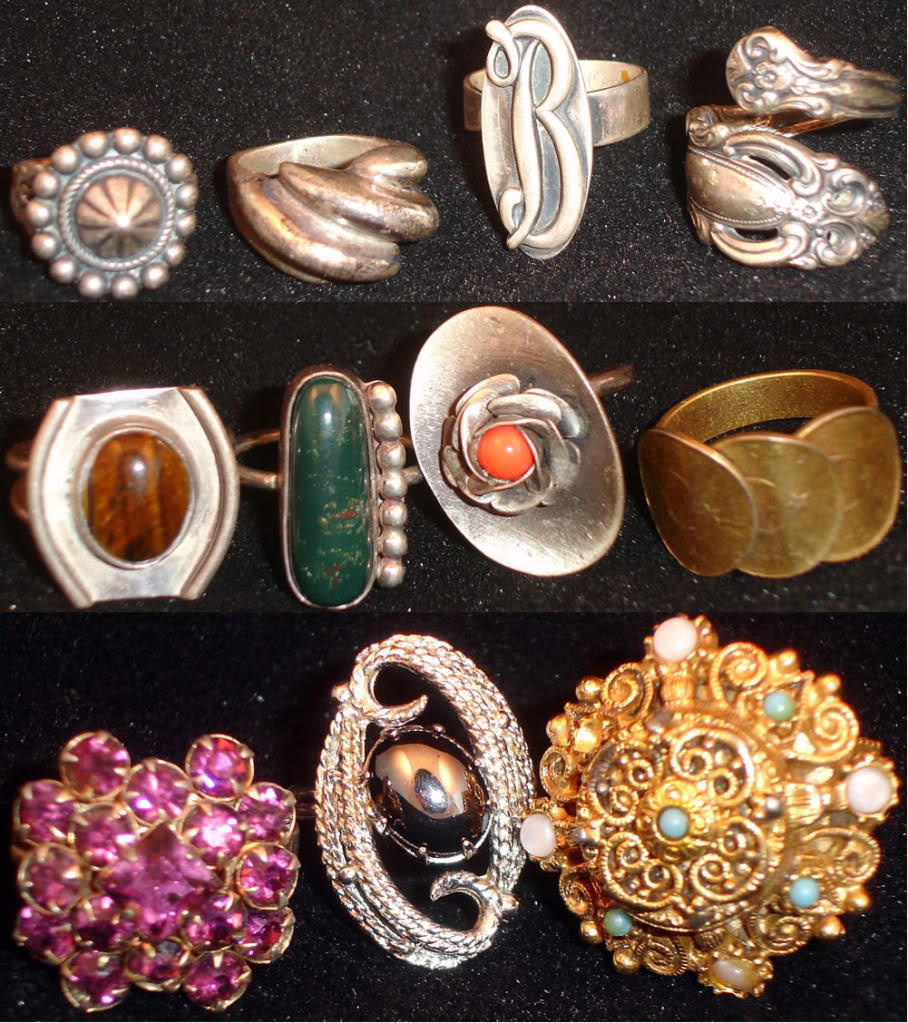 Vintage Costume & Fashion Jewelry: Rings, pins, brooches, bracelets, necklaces and more!