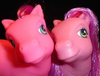 Why are some G3 Skywishes bright neon & others aren't? (My Little Pony variants & variations)