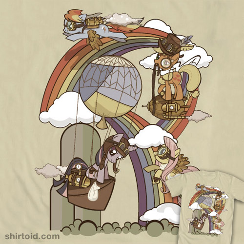 Steampunk Ponies T-Shirt: New My Little Pony Friendship is Magic designs at WeLoveFine!
