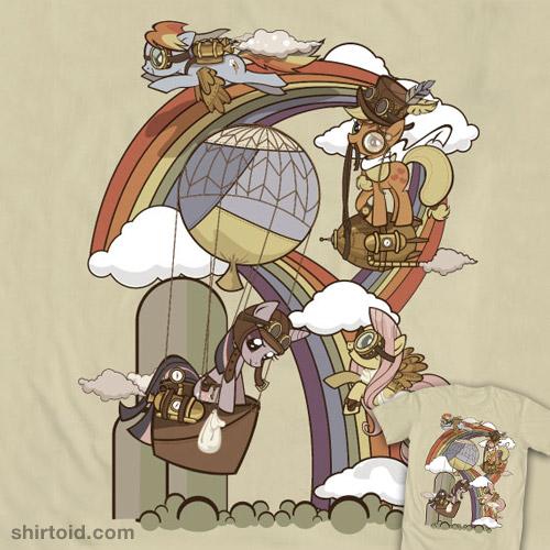 Steampunk Ponies T-Shirt: New My Little Pony Friendship is Magic designs at WeLoveFine!