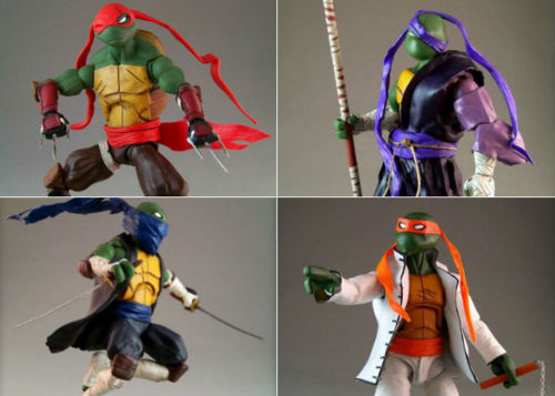 Custom TMNT action figures