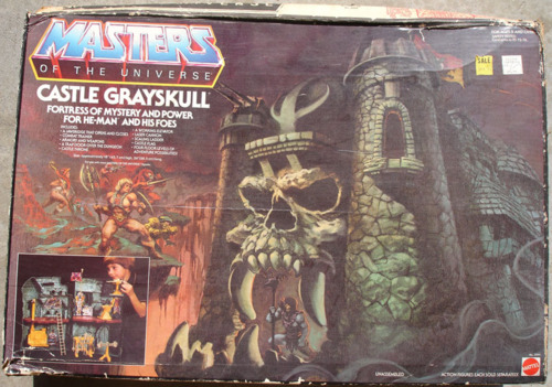 Packaging for the Castle Grayskull playset from He-Man, Masters…