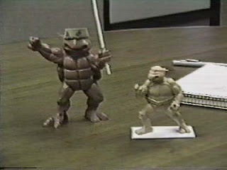 What if the TMNT action figures had been larger, like the size…