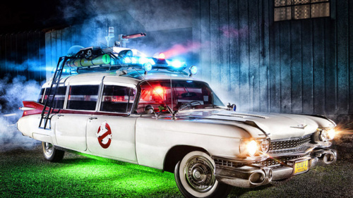 Fantastic gallery of an Ghostbusters Ecto-1 fan made car and a…