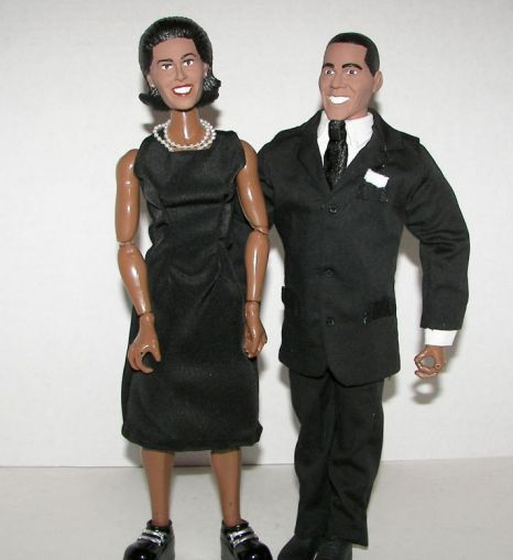 Barack and Michelle Obama action figures. Do you think they look…