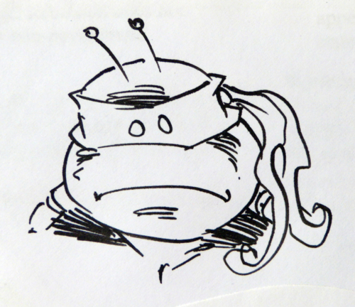 TMNT creator Peter Laird did a sketch of an alien turtle to…