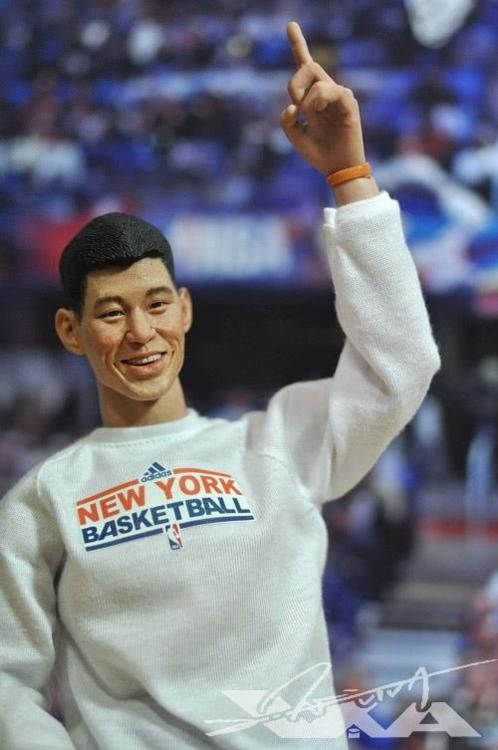 Amazingly life-like Jeremy Lin custom action figure from VIVA…