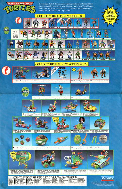 cinematicwasteland:  Playmates Teenage Mutant Ninja Turtles 1991…