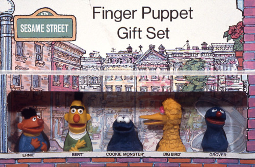 vintagesesame:  These Sesame Street finger puppets, produced by…