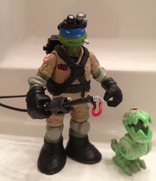 Teenage Mutant Ninja Turtles Leo as a Ghostbuster custom…